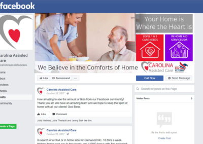 Carolina Assisted Care Facebook Page