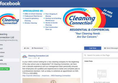 Cleaning Connection Facebook Page