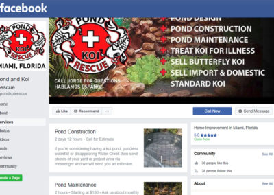 Pond and Koi  Rescue Facebook Page