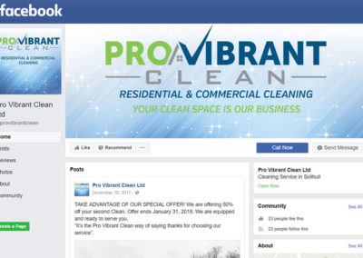 Pro Vibrant Clean Facebook Page